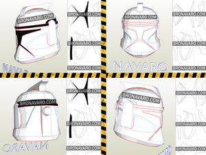 clone trooper helmet foam template