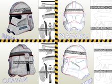 Load image into Gallery viewer, Clone Trooper Cosplay Helmet Pattern