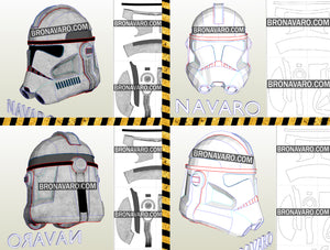 Clone Trooper Cosplay Helmet Pattern