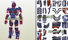 Load image into Gallery viewer, DeathStroke Armor - Printable Template Eva Foam + Sword Template / Pattern -DeathStroke Cosplay - DeathStroke Helmet / Armor - Pepakura