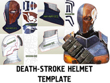 Load image into Gallery viewer, deathstroke helmet template