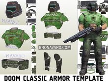 Load image into Gallery viewer, Doomguy Classic Armor Template