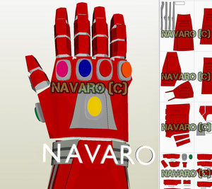iron man gauntlet eva foam template