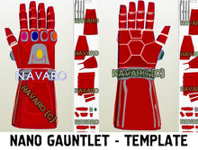 Load image into Gallery viewer, iron man nano gauntlet template