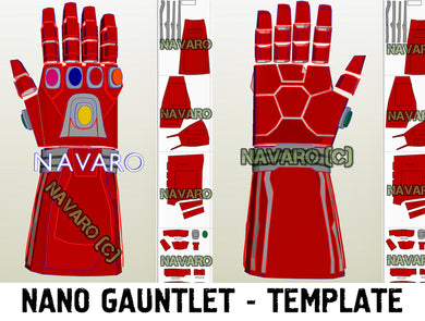 iron man nano gauntlet template
