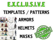 Load image into Gallery viewer, EXCLUSIVE TEMPLATES - Cosplay Armor - Cosplay Helmet - Fortnite - Drift - Omega