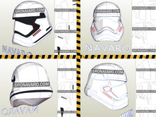 Load image into Gallery viewer, First Order Stormtrooper Helmet Pepakura