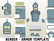 Load image into Gallery viewer, Futurama Bender Cosplay Costume Template