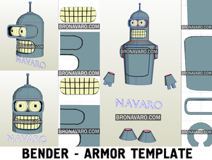 Futurama Bender Cosplay Costume Template
