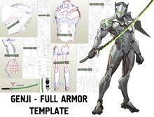 Load image into Gallery viewer, genji armor template