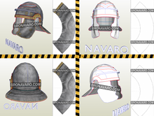Load image into Gallery viewer, Galea Roman Helmet Eva Foam Template