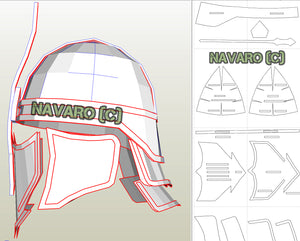 unsullied helmet pattern