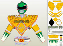 Load image into Gallery viewer, green ranger shield foam template