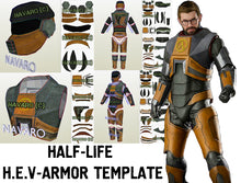 Load image into Gallery viewer, Half life armor template