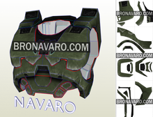 Load image into Gallery viewer, Halo 3 Chest Armor Template