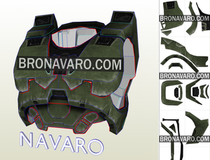Halo 3 Chest Armor Template