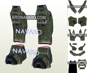 Master Chief Boots Foam Template