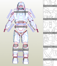 Load image into Gallery viewer, Halo Armor Cosplay Foam Pepakura File Templates