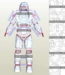 Halo Armor Cosplay Foam Pepakura File Templates