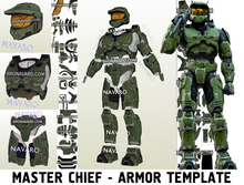Load image into Gallery viewer, Halo Master Chief Armor Template