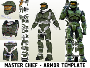 Halo Master Chief Armor Template