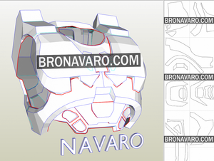 Halo Chest Armor Pepakura