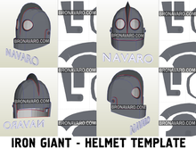 Load image into Gallery viewer, Iron Giant Helmet Foam Template