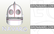 Load image into Gallery viewer, Iron Giant Helmet Printable Template