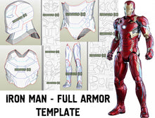 Load image into Gallery viewer, iron man armor template