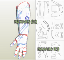Load image into Gallery viewer, Iron Man Glove Pattern