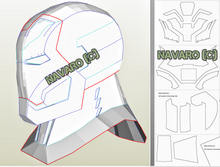 Load image into Gallery viewer, iron man helmet template