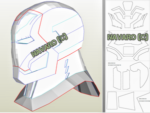 iron man helmet template