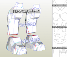 Load image into Gallery viewer, Halo Armor Boots Template