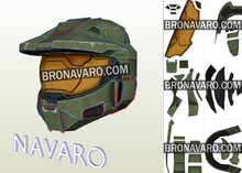 Load image into Gallery viewer, Master Chief Helmet pepakura