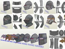Load image into Gallery viewer, Medieval Helmets eva foam template
