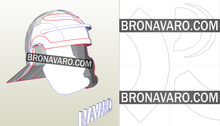 Load image into Gallery viewer, Roman Galea Helmet Pepakura
