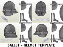 Load image into Gallery viewer, Larp Helmet Foam Template
