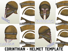 Load image into Gallery viewer, Greek corinthian helmet foam template