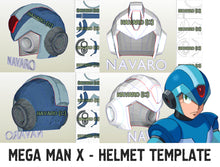 Load image into Gallery viewer, mega man helmet template