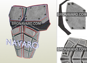 Red Hood Armor Chest Plate Pepakura