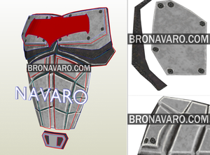Red Hood Armor Foam Template