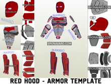 Load image into Gallery viewer, Red Hood Armor Pepakura Template