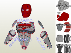 Red Hood Eva Foam Template