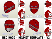 Load image into Gallery viewer, Red Hood Injustice 2 Helmet Cosplay Template