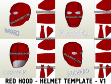 Load image into Gallery viewer, Red Hood Dc Comics Helmet Foam Template