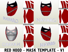 Load image into Gallery viewer, Red Hood Mask Outlaw Pepakura Template