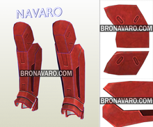 Load image into Gallery viewer, Red Hood Shin Guards Pattern