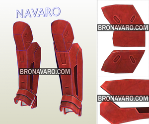 Red Hood Shin Guards Pattern