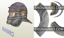 Load image into Gallery viewer, Roman Centurion Helmet Template