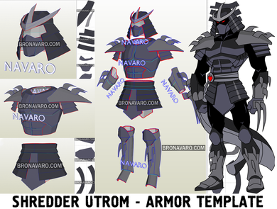 Shredder Utrom Armor Template